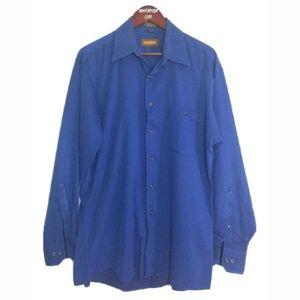 J. Ferrar Shirt Mens Large 16 34/35 Blue